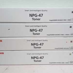 NPG-47 Canon Toner Cartridge Set All colours C,M,Y,K Genuine (TG47)