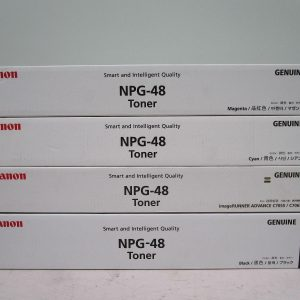 NPG-48 Canon Toner Cartridge Set All Colours C,M,Y,K Genuine (TG48)