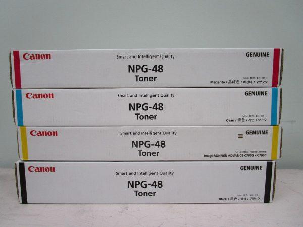 NPG-48 Canon Toner Cartridge Set All Colours C,M,Y,K Genuine (TG48)