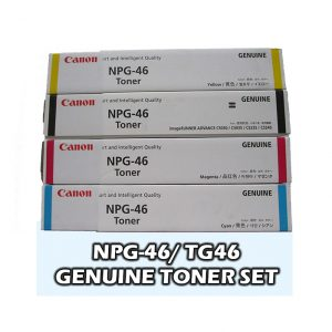 NPG-46 Canon Toner Cartridge Set All colours C,M,Y,K Genuine (TG46)